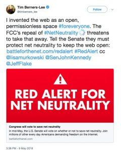 Tim Berners Lee for Net Neutrality