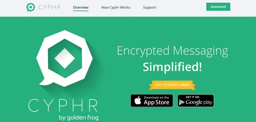 Cypher Secure Messaging App