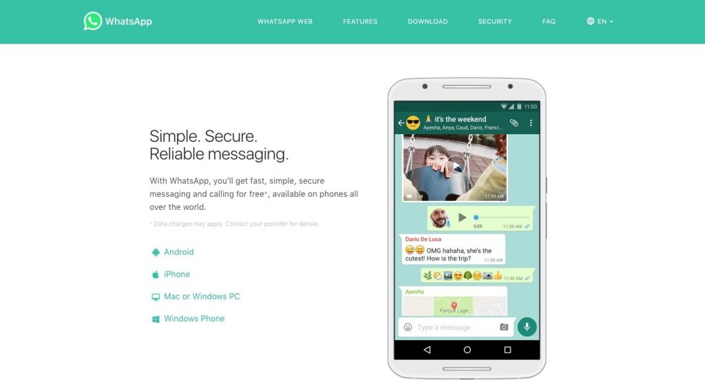 Whatsapp messaging program