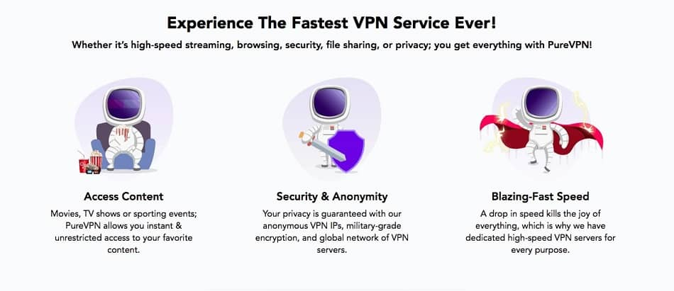 Pure VPN is our solid third for cheapest VPNs
