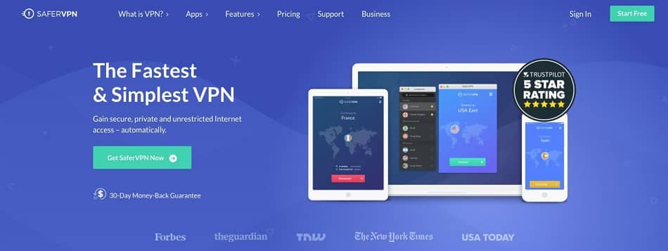 Safer VPN is our nr 2 for top cheap vpns