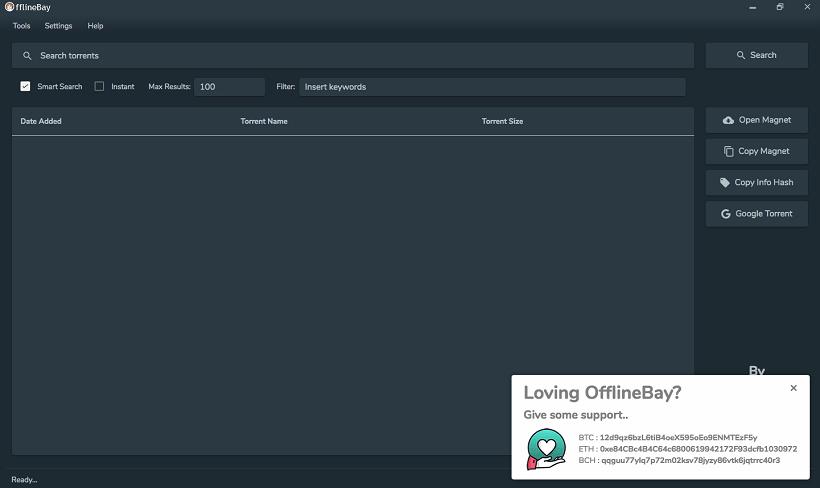 Offlinebay Client