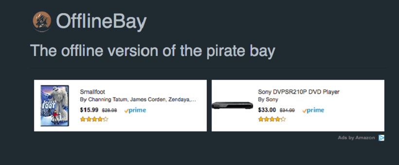 the pirates bay search engine