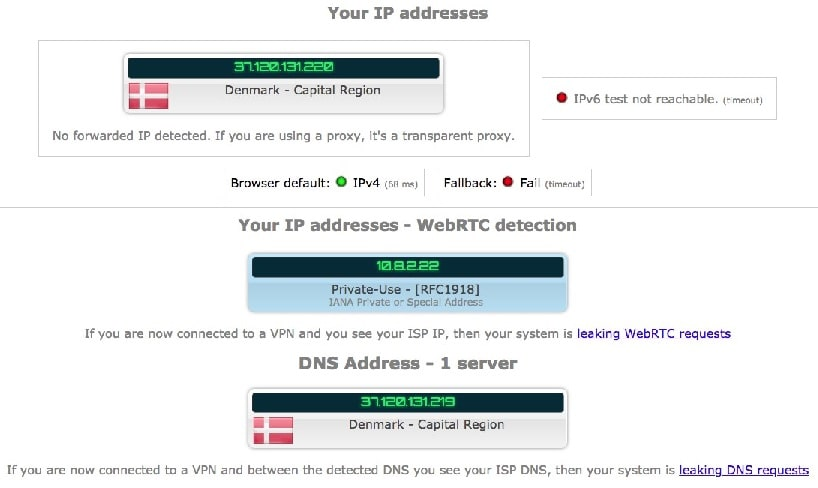 Ipleak.net Identity