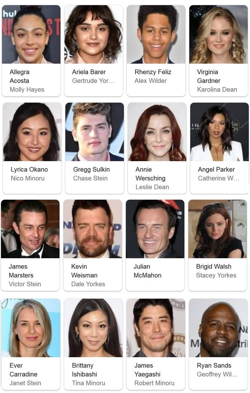 The cast in Marvel´s Runaways