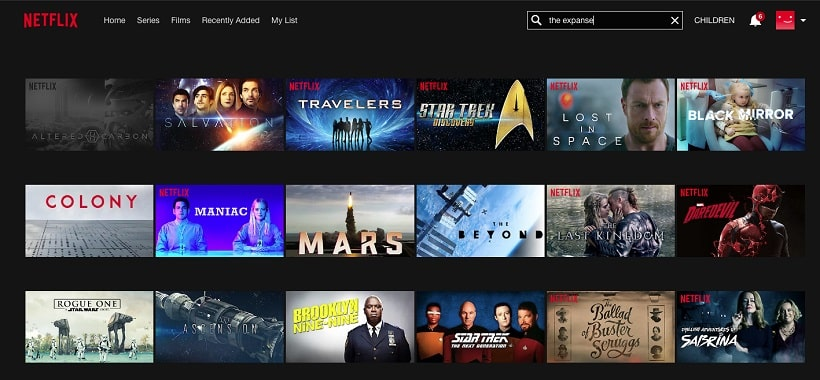 The Expanse Search on Netflix